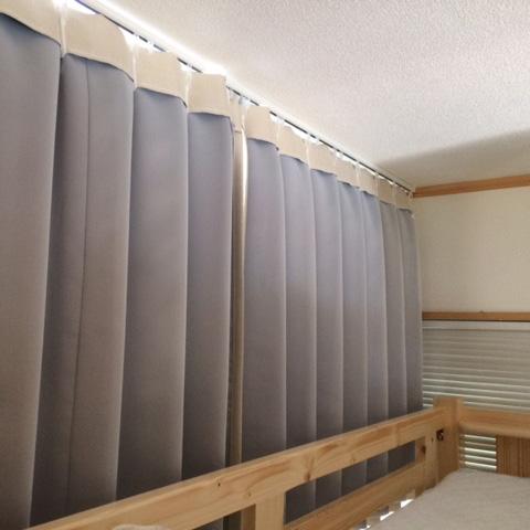 二段ベットのカーテンをお作りします♪ 激安オーダーカーテンどっと通販